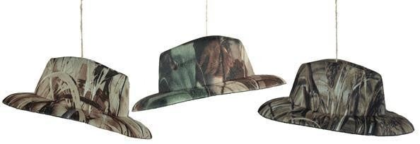 "7""L Forest Camouflage Hat Set of 6"