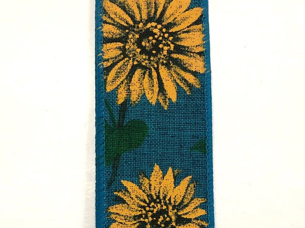 "Teal Linen/Fall Sunflower 1.5""x10yd"