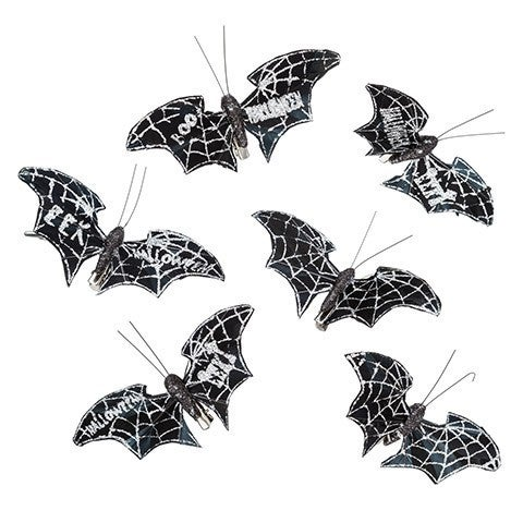 Silver Bat: 5 X 1.97 Inches, 3 Assorted Styles