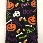 "Black Linen Fun Halloween 2.5""x10yd"
