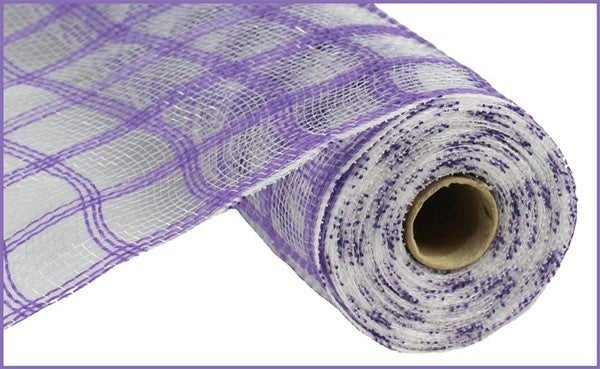 "10.5""X10yd Faux Jute Check Mesh Purple"