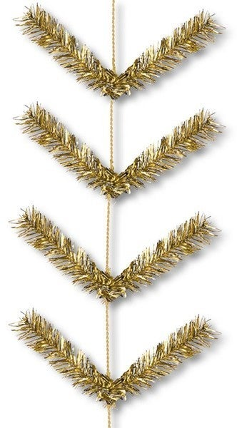 "12"" X 9' Work Garland X22 Ties Metallic Gold"