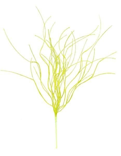 "30""L Flocked Twig Spray Yellow"