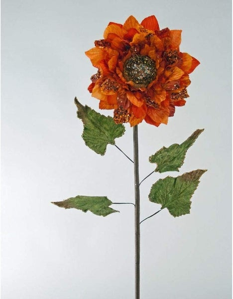 Lg Sunflower Stem - Pumpkin