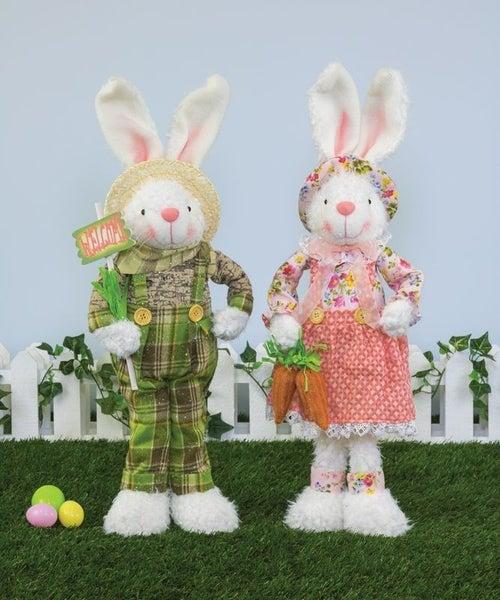 Spring Floral Bunny Stander