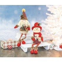 WINTERBERRY SANTA/SNOWMAN BUTTON LEG