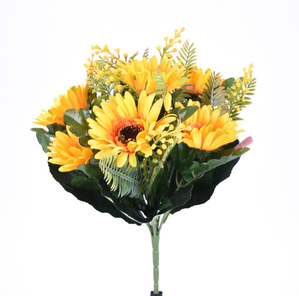 "14"" GERBERA DAISY BUSH yellow"
