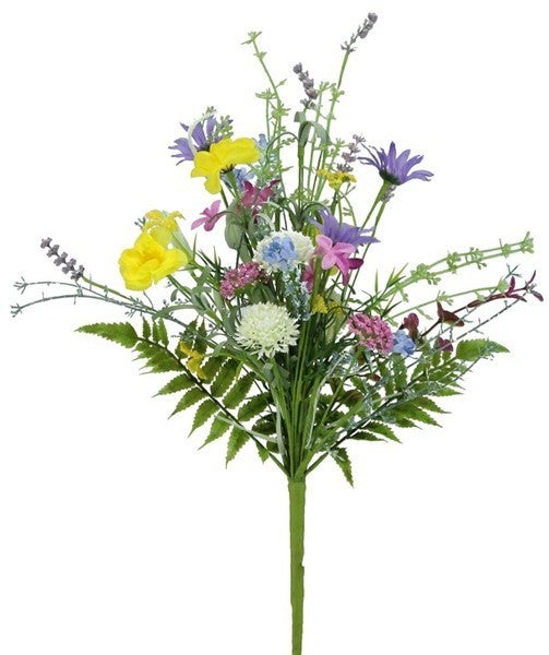 "20""L Fabric Wild Flower Bouquet"