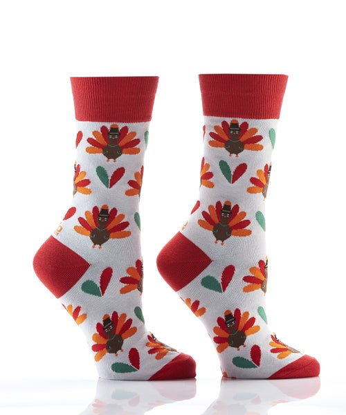 WOMEN'S HARVEST CREW SOCK, TAIL FEATHERS