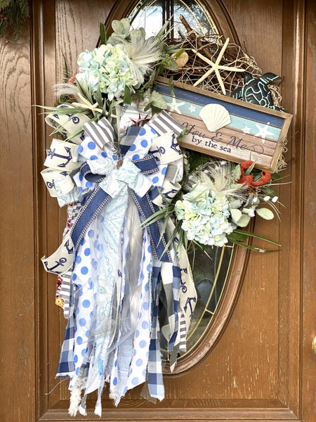 Grapevine Beach Wreath with Ragbow