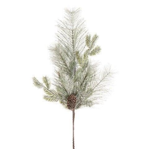 Glitter Pine Spray: Green, 30 Inches