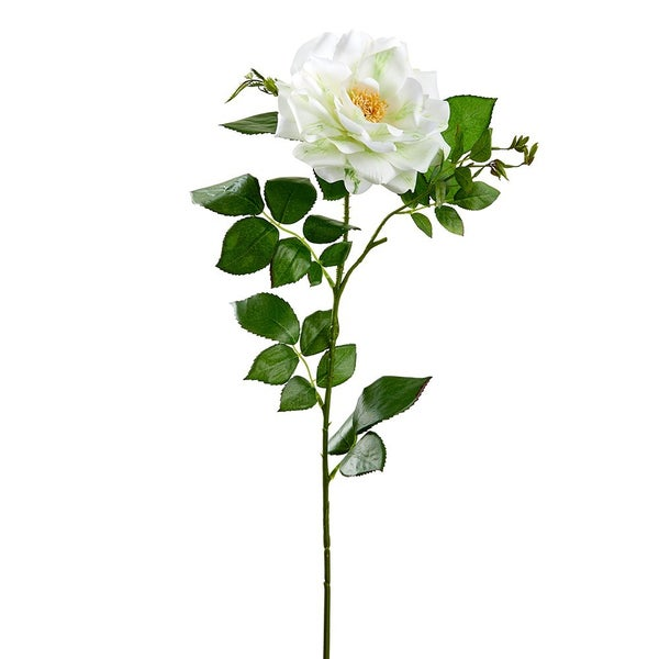 "38"" Olivia Garden Rose Spray  White Green"