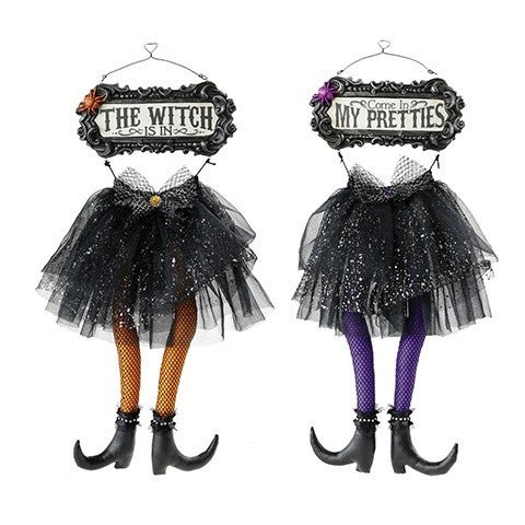 Witch Skirt And Legs: Resin/Polyester, 8 X 18