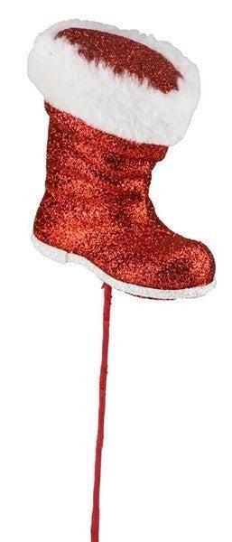 "11.5""L Santa Boot Pick"