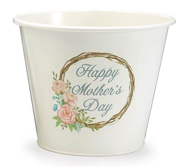 HAPPY MOTHERS DAY WREATH POT COVER