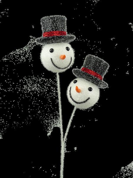 Glitter Snowman Spray X 2 H24