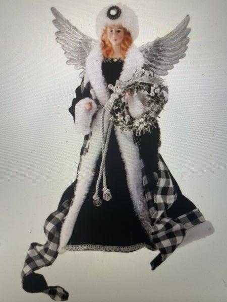 """16"""" FABRIC/RESIN CHECK/VELVET CONE ANGEL"""