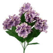 Satin Hydrangea Bush X8 H18 Purple