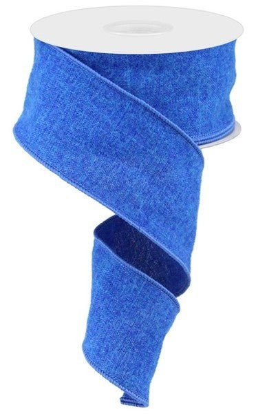 "2.5""X10yd Fuzzy Royal Burlap Royal Blue"