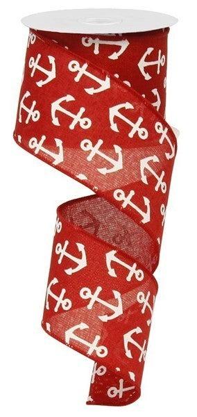 "2.5""X10yd Basic Anchor Red/White"