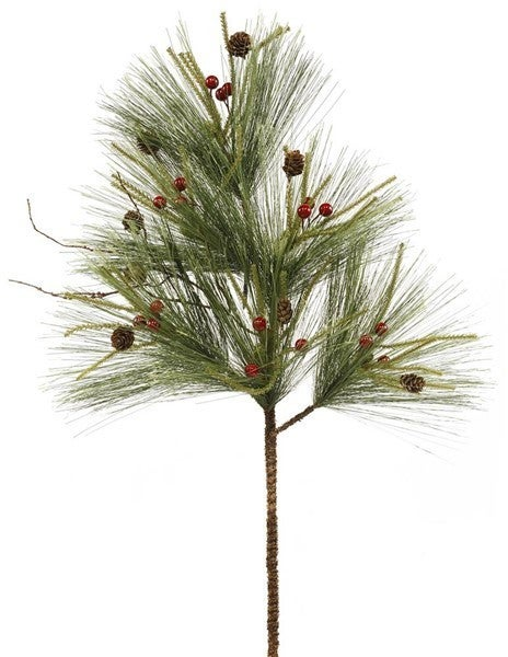 "29""L Long Needle Pine/Berry Spray"