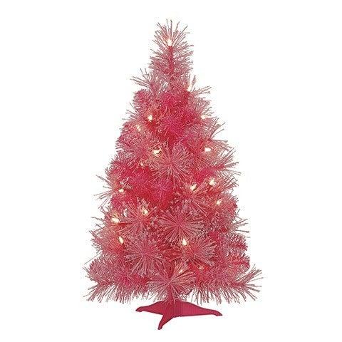 Mini Christmas Tree: Pink Iridescent Glitter, 13 X 24 Inches