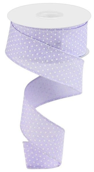 "1.5""X10yd Raised Swiss Dots On Royal Light Lavender"