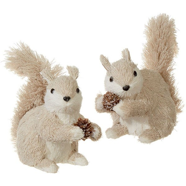 "6"" SQUIRREL ORNAMENT Tan"