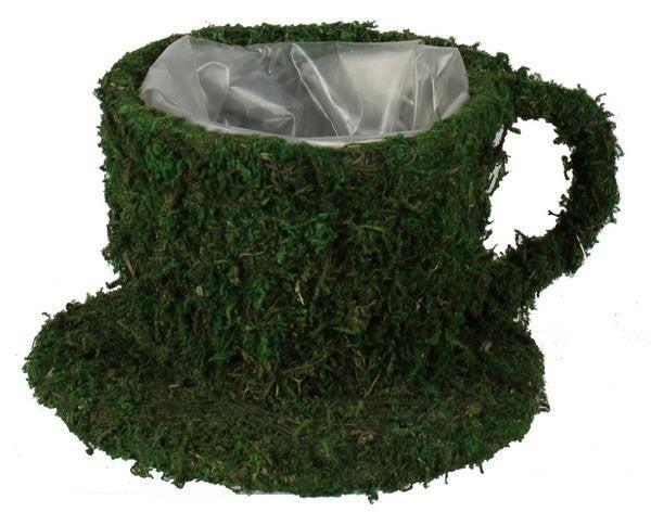 """7.75""""L Moss Cup W/Saucer"""