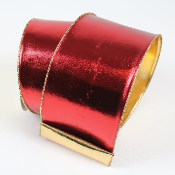 "MIRROR MIRROR - 4""X10YD / RED GOLD"