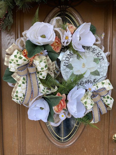 Magnolia Grapevine Wreath on Hometalk