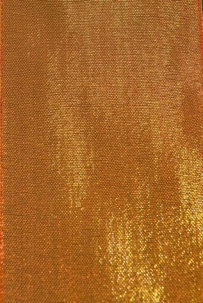 """HAL 58 - 2.5"""" x 10 yds Aubrey Mesh Red/Gold D.Stevens"""