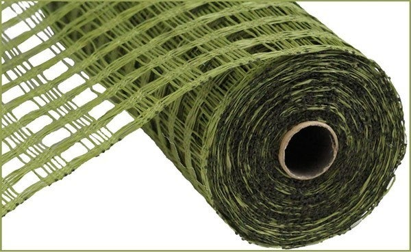 "10""X10YD POLY BURLAP CHECK MESH Color: Olive Green"