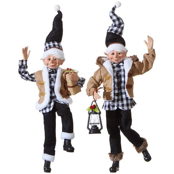 """16\"""" POSABLE ELF (Christmas in the Country)"""