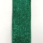 """Emerald Linen/Emerald Pinstriped Glitter 1.5""""x10yd"""