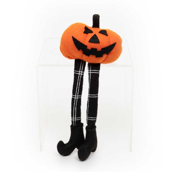 """JACK-O LANTERN GNOME WITH PLAID LEGS & BOOTS SMALL 4.75""""X3.5""""X11"""""""