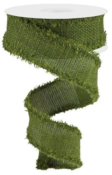 """1.5""""X10yd Cross Royal W/Drift Moss Green"""