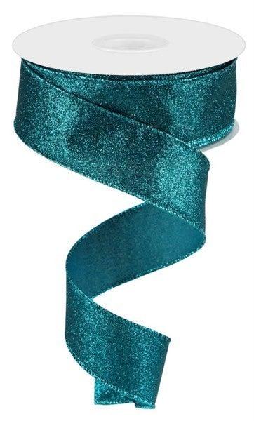 "1.5""X10yd Shimmer Glitter Teal"