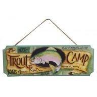 Trout Camp Hanging Plaque