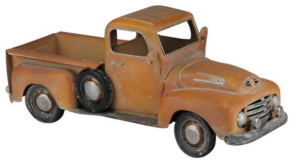 "16""L X 6.5""H Metal Truck Planter Rust"