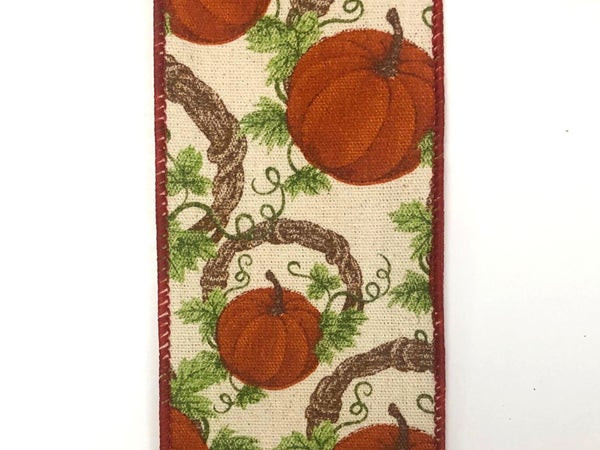 "Canvas/Pumpkins-Grapevine Wreath 2.5""x10yd"