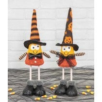 CANDY CORN WITCH BOBBLE BODY STANDER