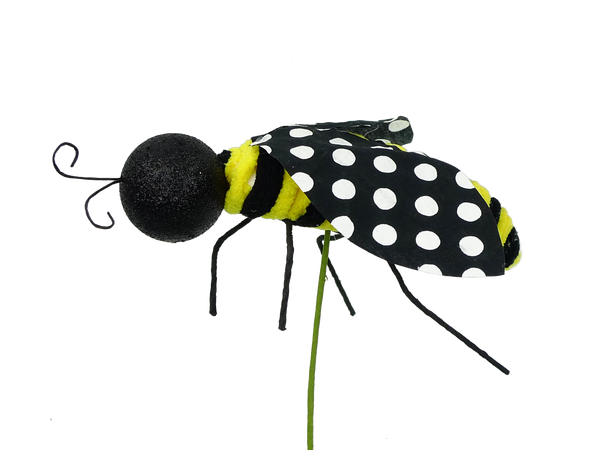 Bee Polka Dot Pick W6xH9
