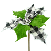 Poinsettia Bell Pick DIA9xH10  Black/White