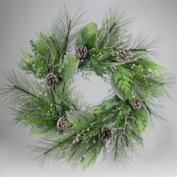 "30""Dia Mix Pine/Twig/Pine Cone Wreath"