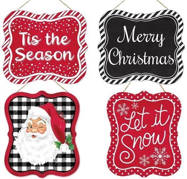 """7""""Lx6""""H Christmas Tin Sign"""