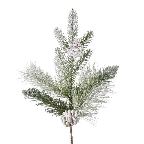 """18"""" FROSTED PINECONE PICK Oh Holy Night"""