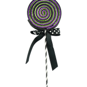 Glitter Lollipop Bow Spray W5xH22 Purple/Green