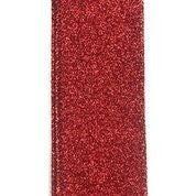 """Red All Flat Glitter 1.5""""x10yd"""