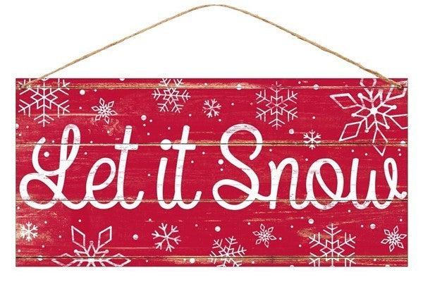 "12""L X 6""H Tin Let It Snow"